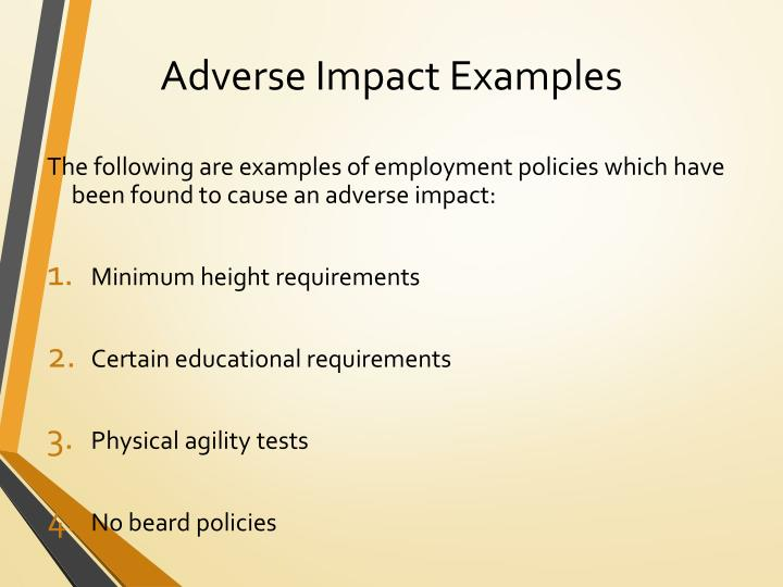 Adverse Impact Examples