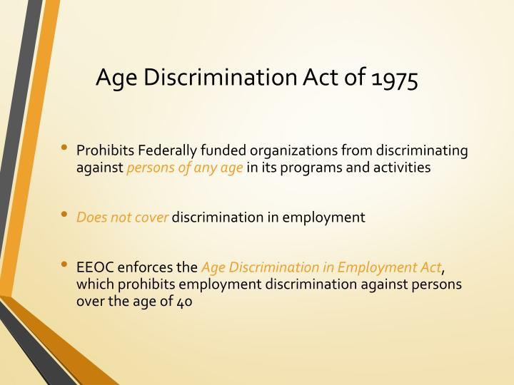 Age Discrimination Act of 1975