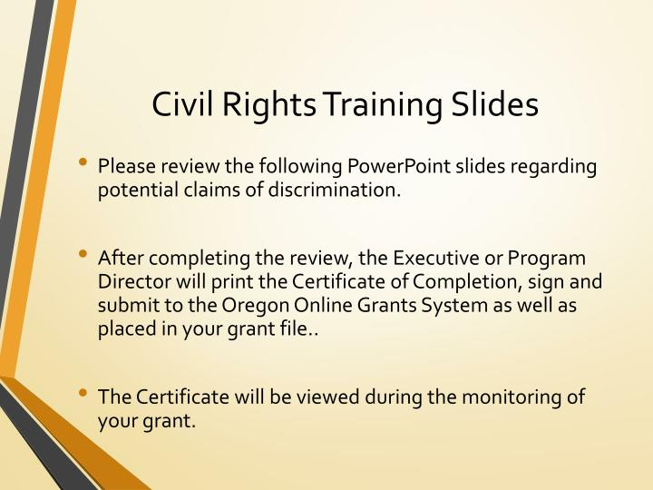 Civil Rights Training Slides