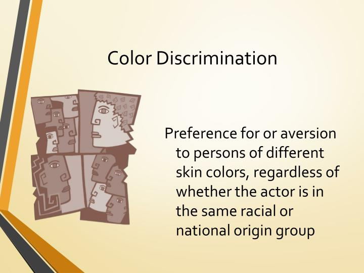 Color Discrimination