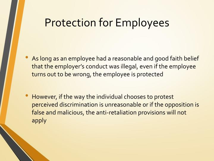 Protection for Employees