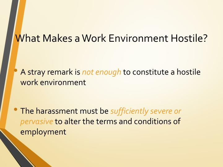 What Makes a Work Environment Hostile?