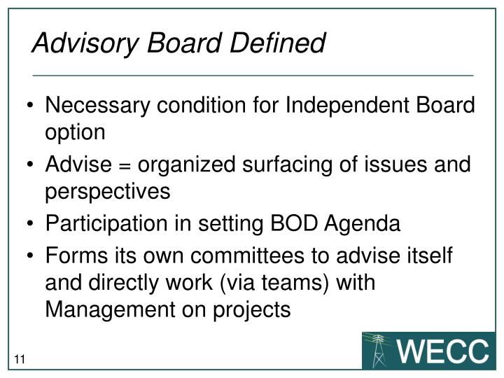 Advisory Board Defined
