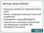 advisory board defined
