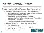 advisory board s needs