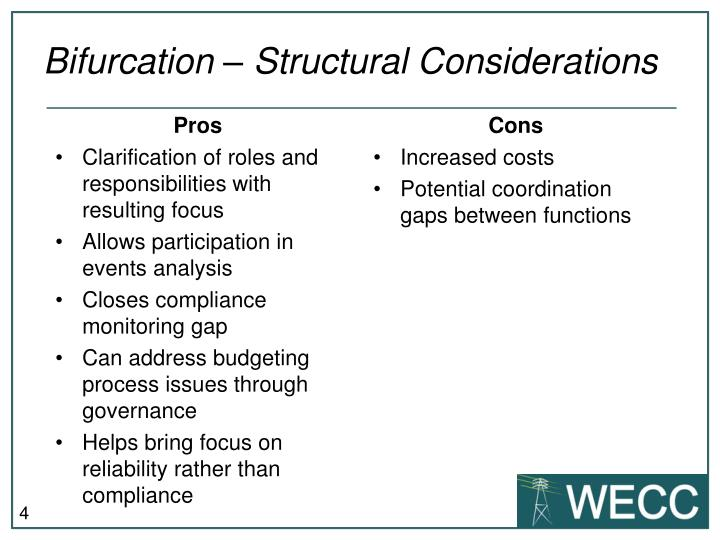Bifurcation – Structural Considerations
