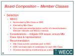 board composition member classes