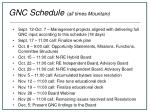 gnc schedule all times mountain