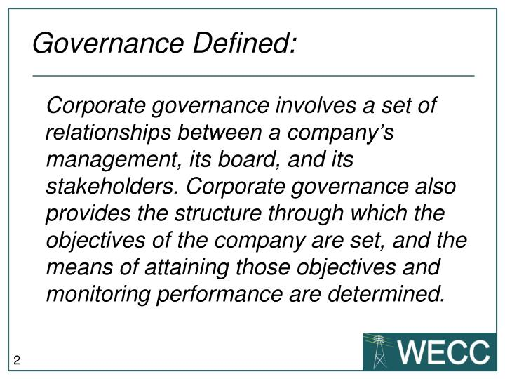 Governance defined