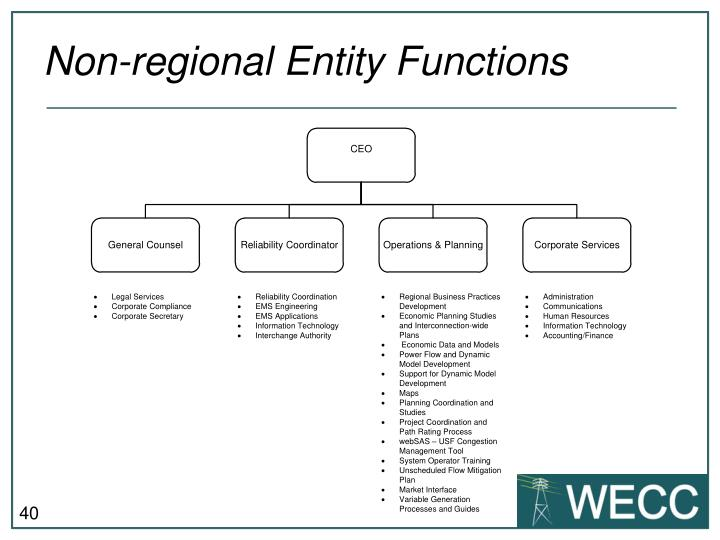 Non-regional Entity Functions