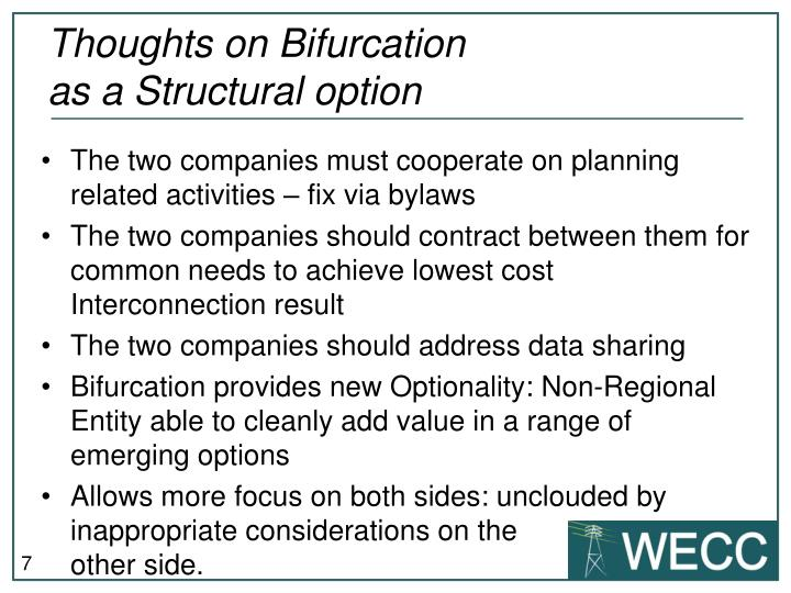 Thoughts on Bifurcation