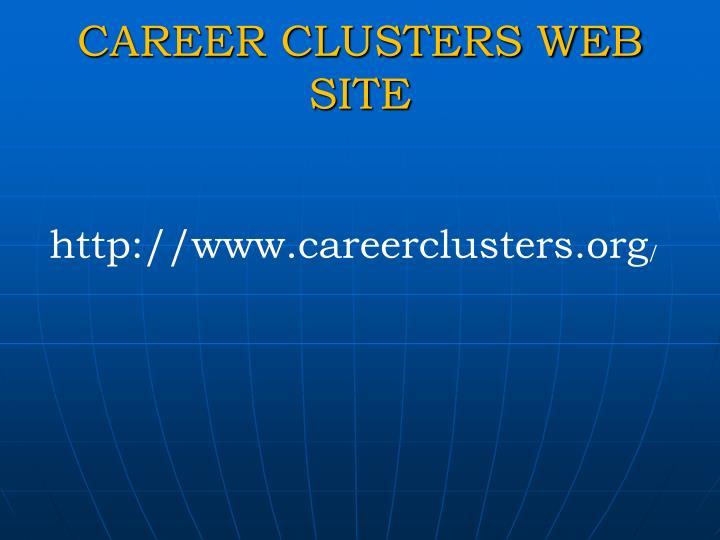 CAREER CLUSTERS WEB SITE