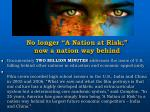 no longer a nation at risk now a nation way behind