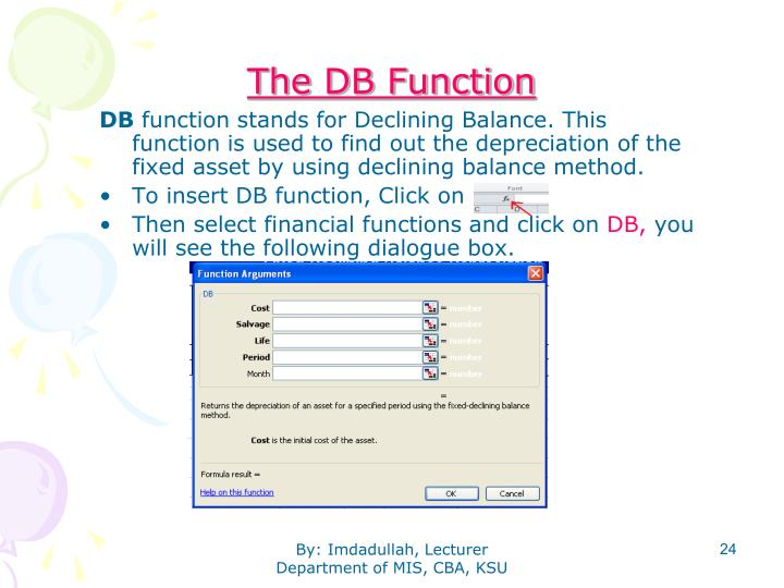 The DB Function