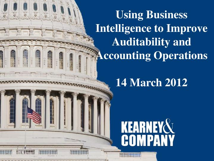 Using Business Intelligence to Improve Auditability and Accounting Operations