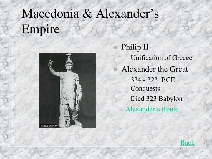 Macedonia & Alexander's Empire