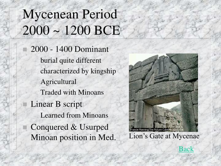 Mycenean Period