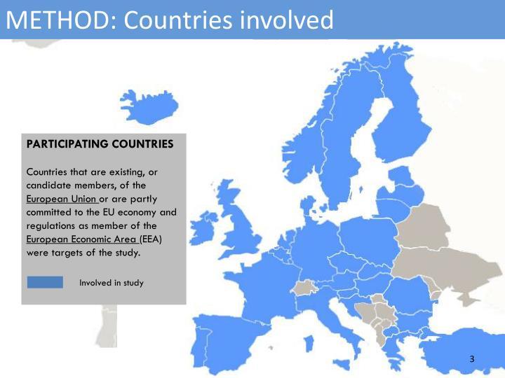 METHOD: Countries involved