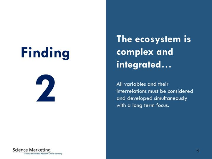 The ecosystem is complex and integrated…