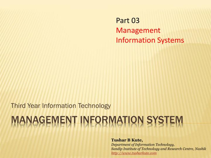 Third year information technology