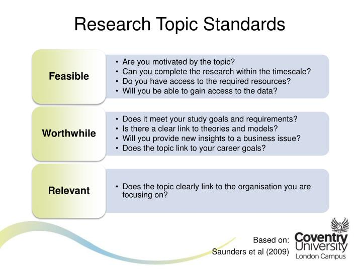 Research Topic Standards