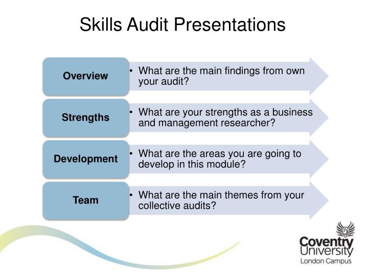 Skills Audit Presentations