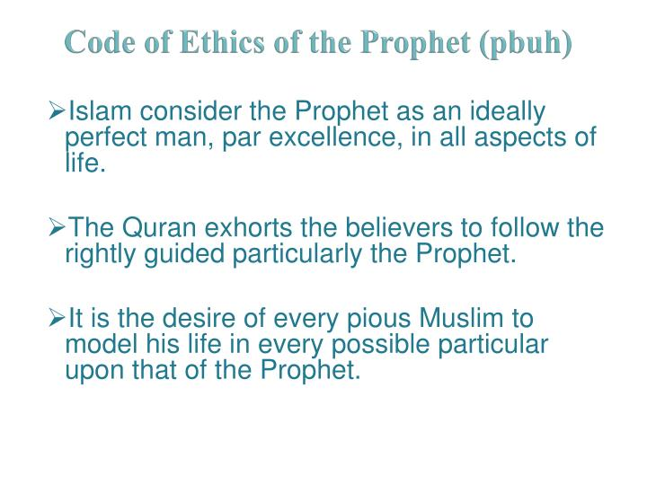 Code of Ethics of the Prophet (