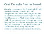 cont examples from the sunnah
