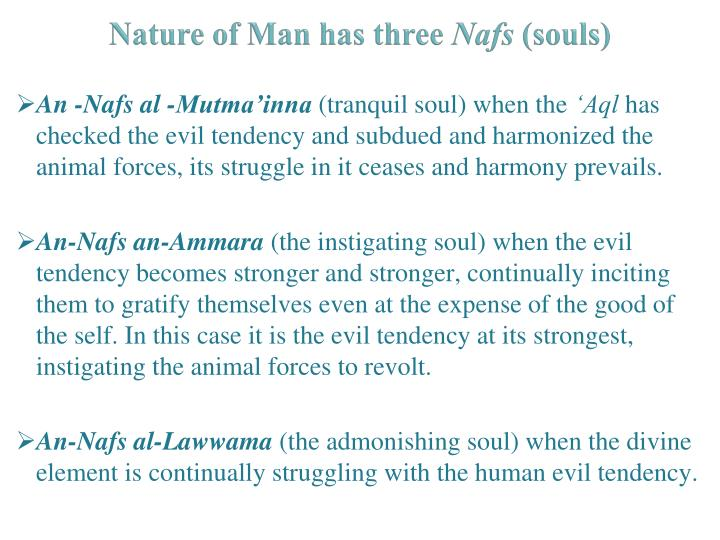 Nature of Man has three