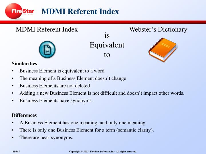 MDMI Referent Index
