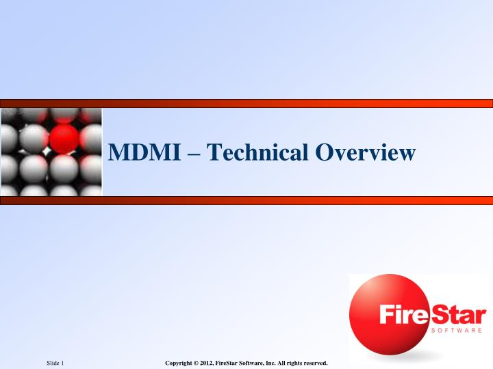 Mdmi technical overview