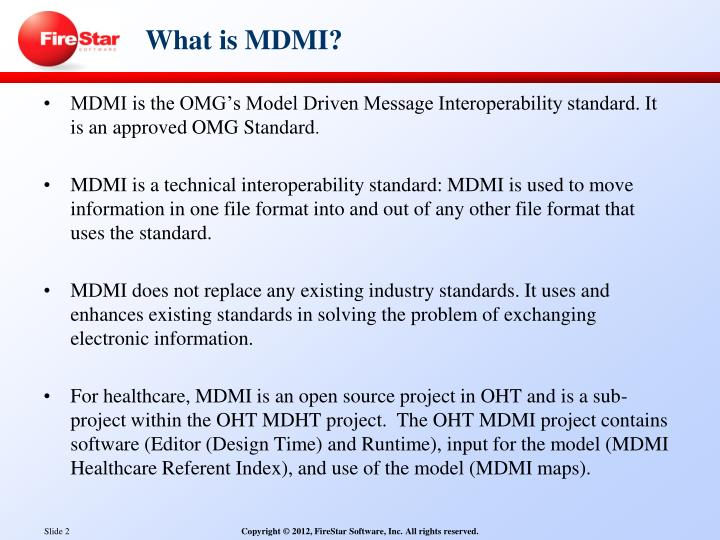 What is MDMI?
