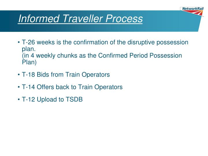 Informed Traveller Process