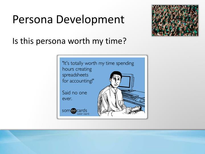 Persona Development