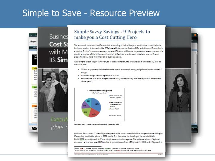 Simple to Save - Resource Preview