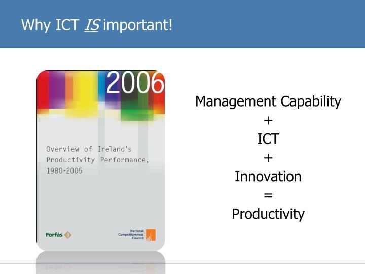 Why ICT