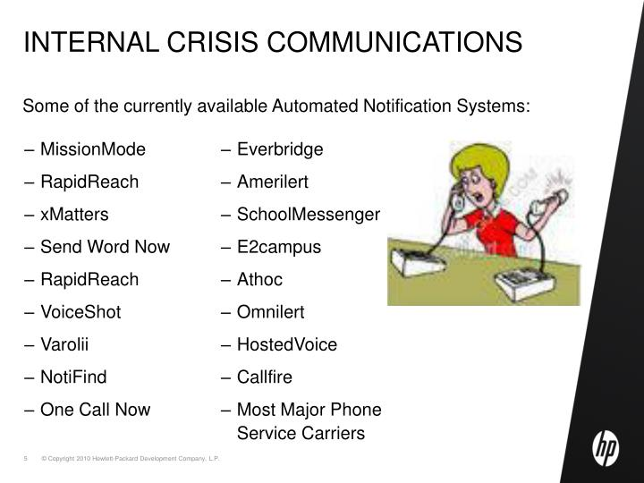Internal crisis communications