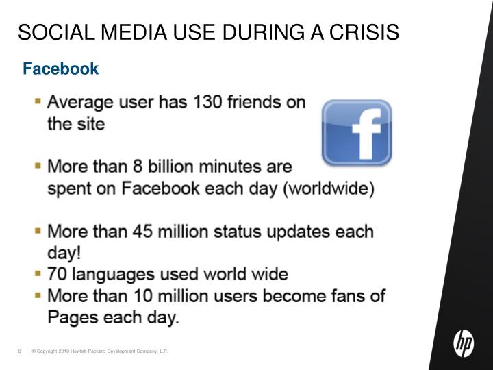 Social media use during a crisis