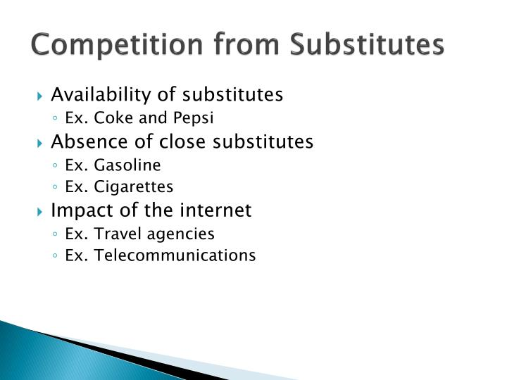Competition from Substitutes