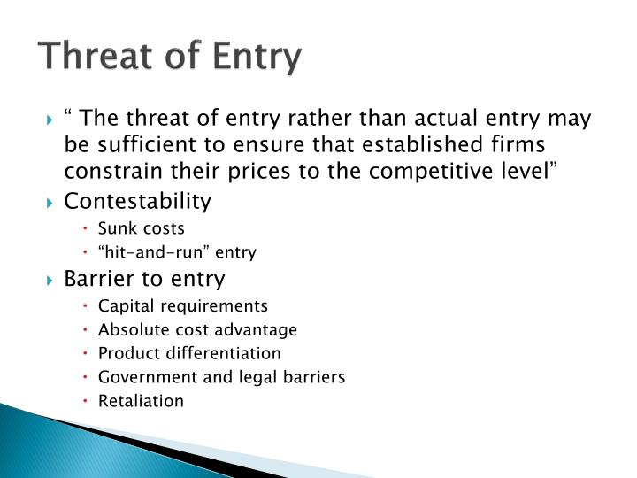 Threat of Entry