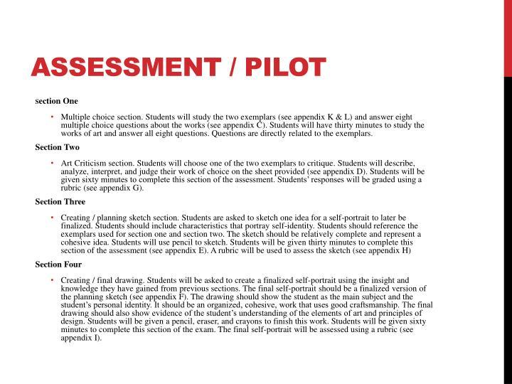 ASSESSMENT / PILOT