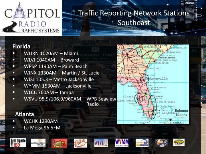 Traffic Reporting Network Stations
