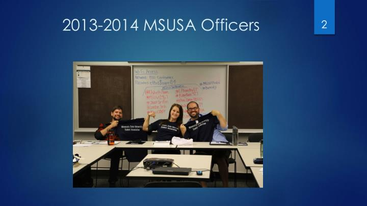 2013-2014 MSUSA Officers