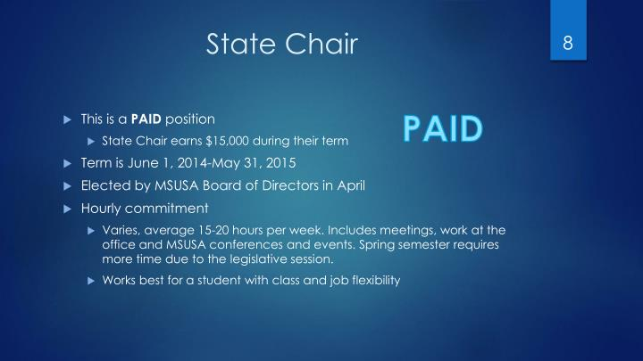 State Chair