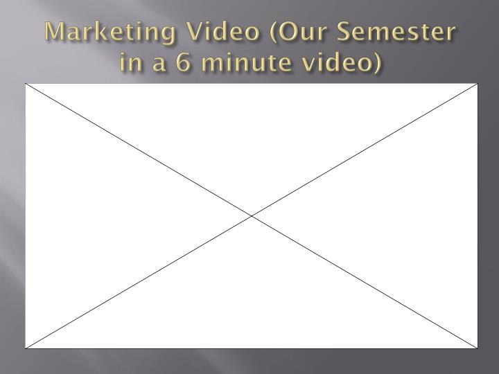 Marketing video our semester in a 6 minute video