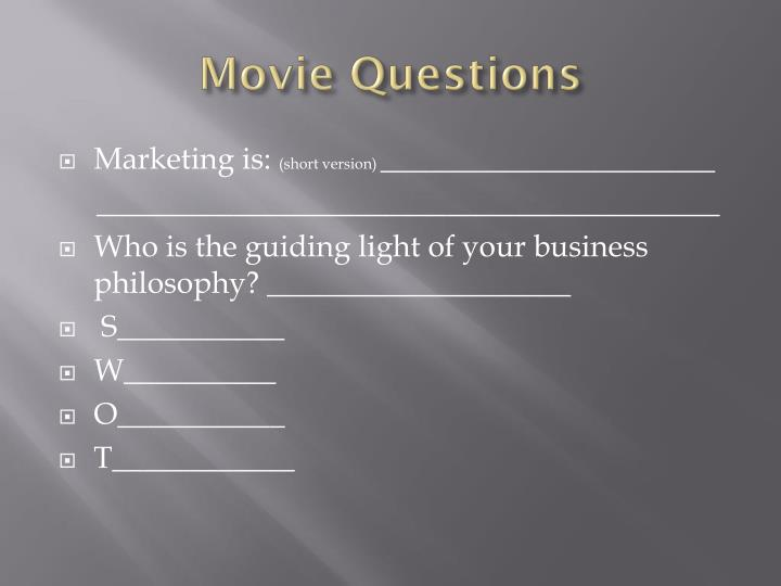 Movie Questions