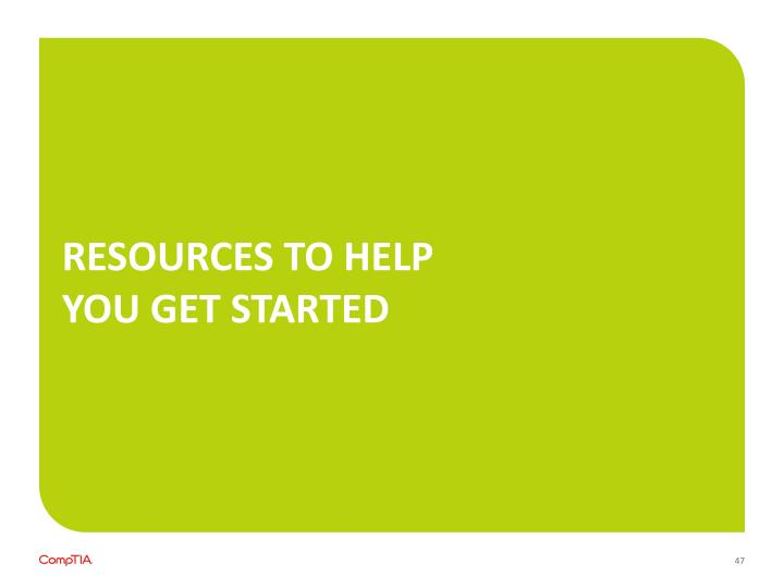 Resources to help you get started