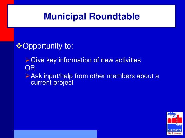 Municipal Roundtable