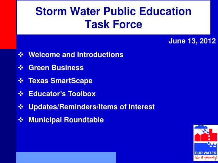 Storm water public education task force