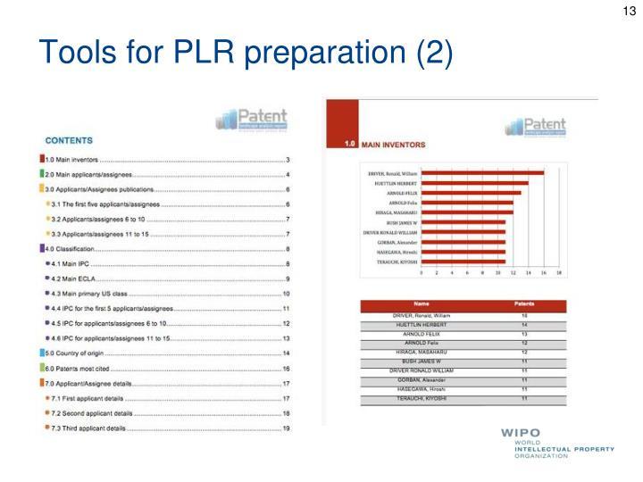 Tools for PLR preparation (2)